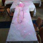 Nakrycie stołu na przyjęciu Hotelik Gwardia